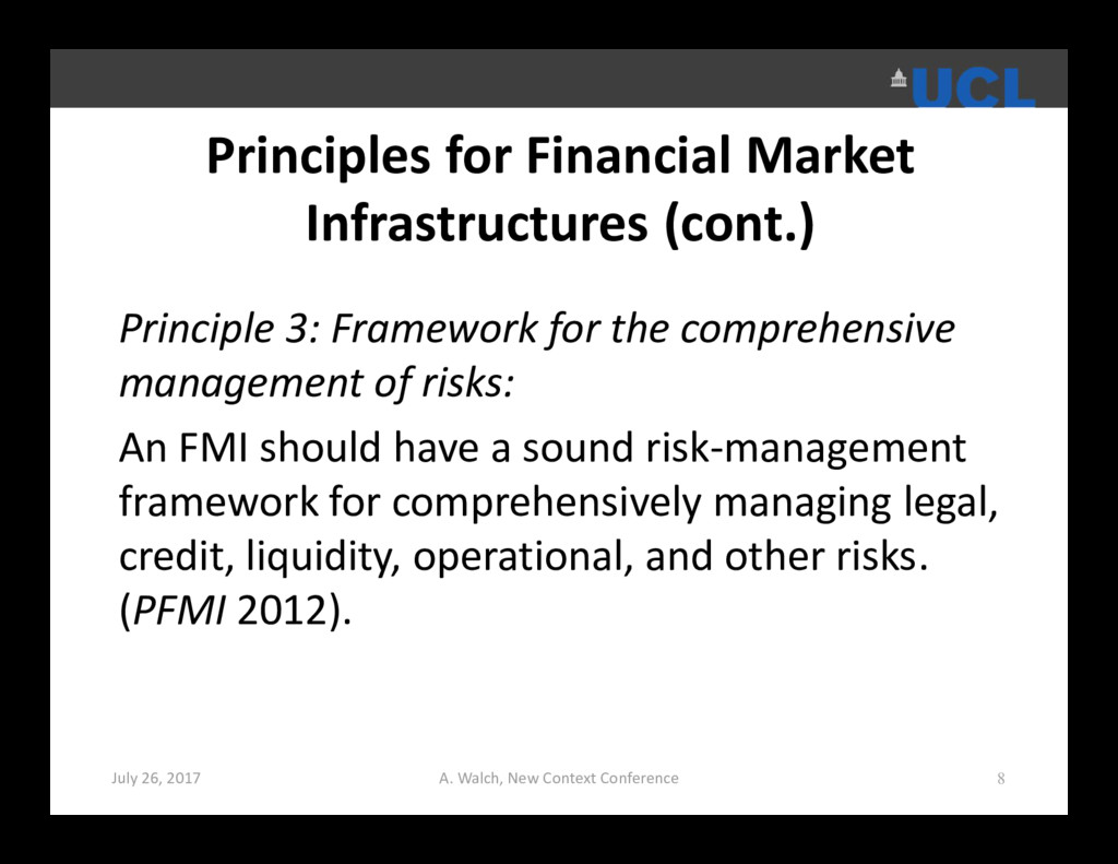 Principles for Financial Market Infrastructures...