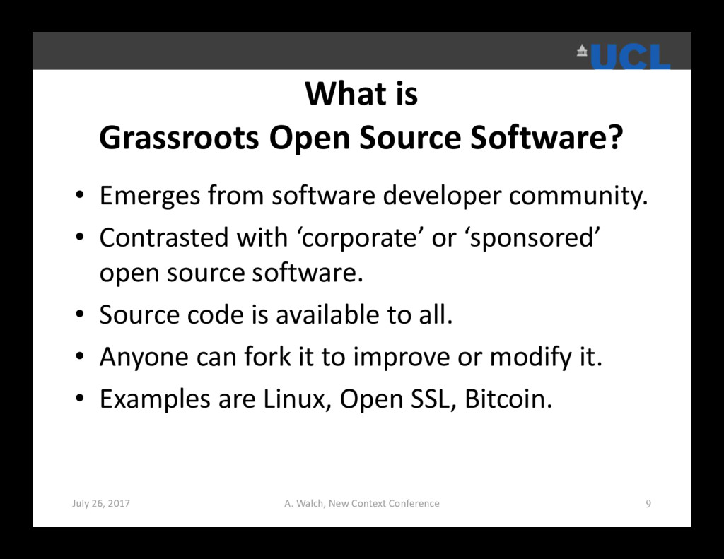 What is Grassroots Open Source Software? • Emer...
