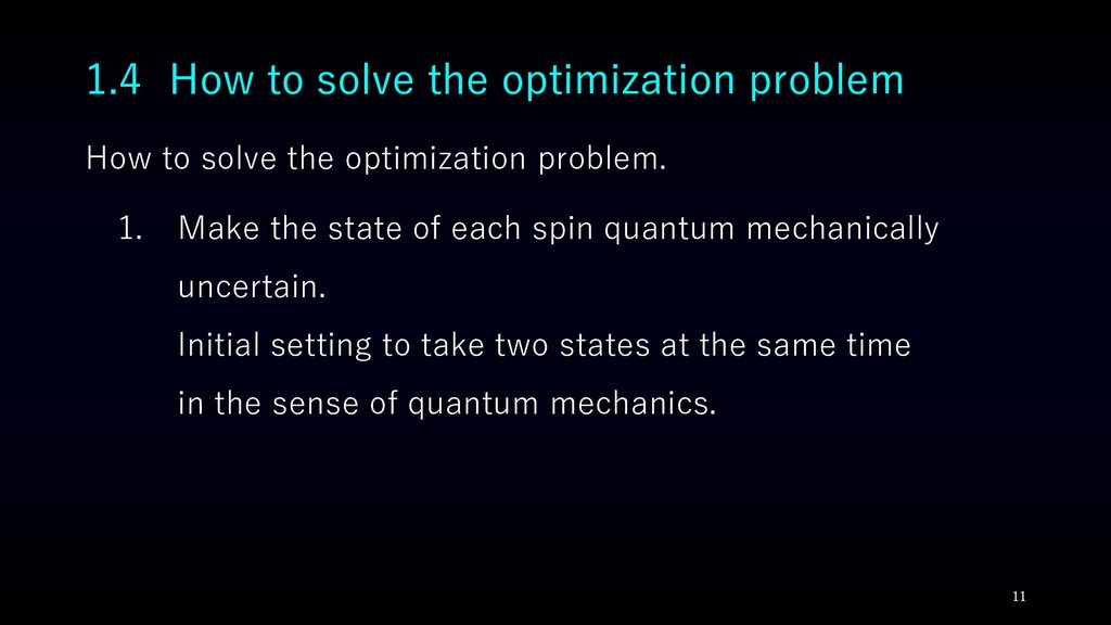How to solve the optimization problem. 1. Make ...