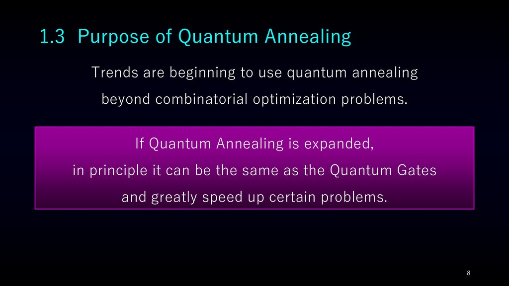 Trends are beginning to use quantum annealing b...