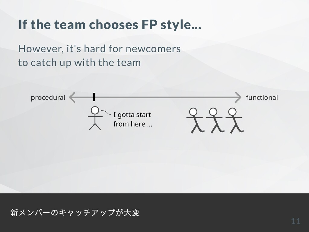 If the team chooses FP style... However, it's h...