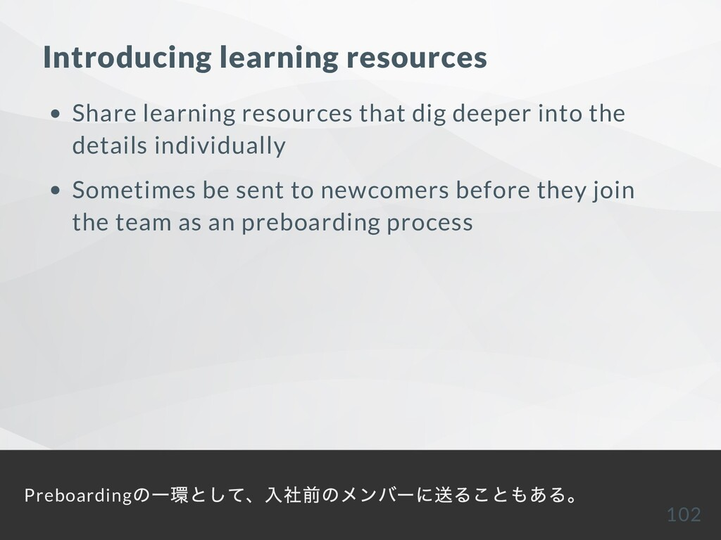Introducing learning resources Share learning r...