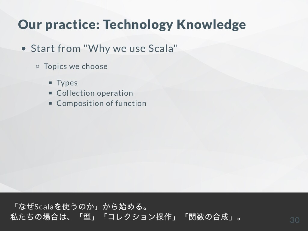 "Our practice: Technology Knowledge Start from ""..."