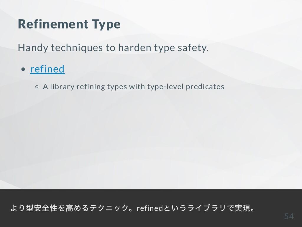 Refinement Type Handy techniques to harden type...