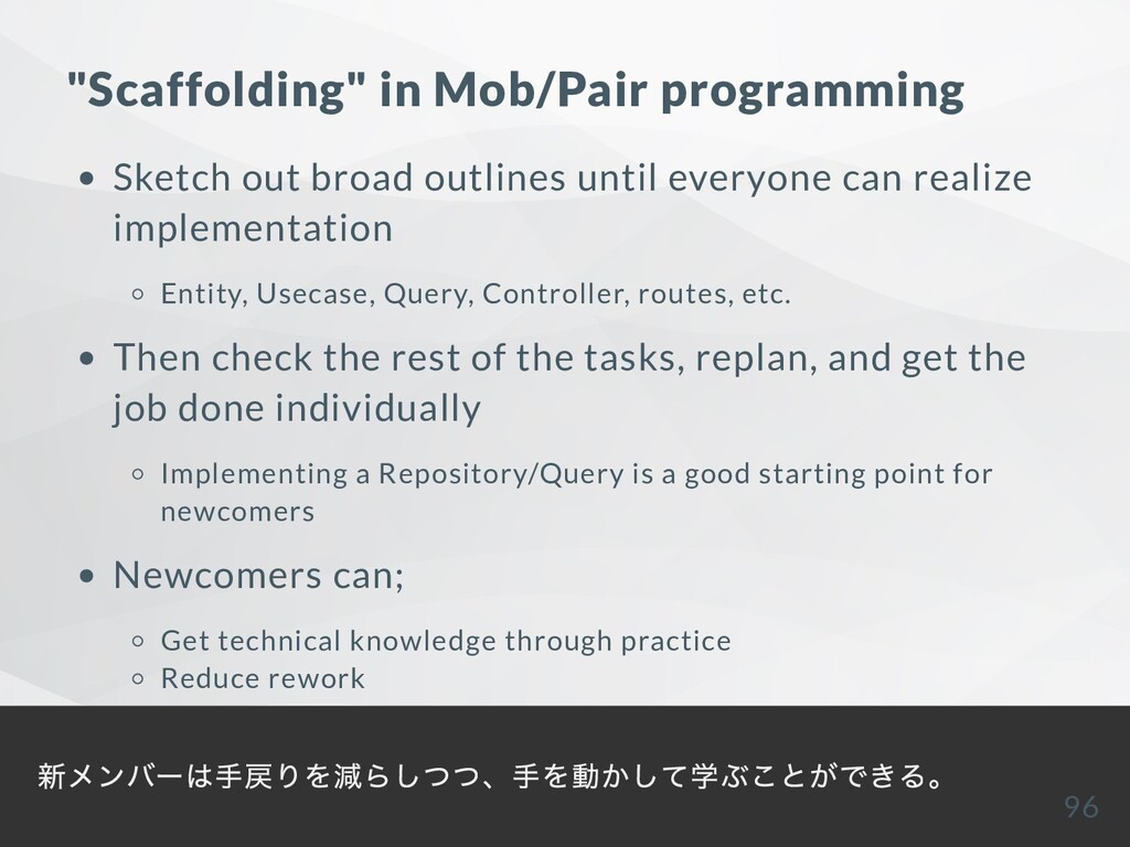 """Scaffolding"" in Mob/Pair programming Sketch ou..."