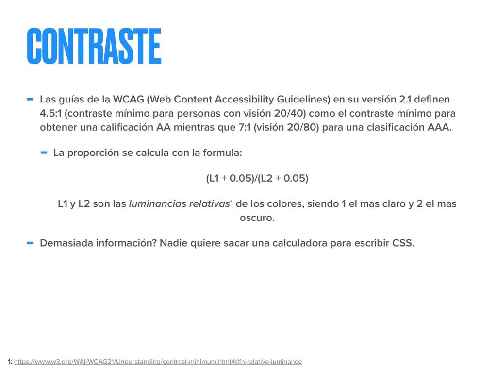 CONTRASTE - Las guías de la WCAG (Web Content A...