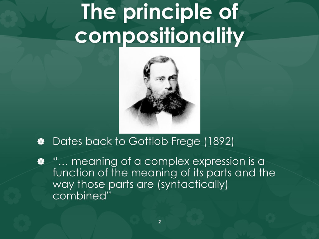 The principle of compositionality |  Dates ba...
