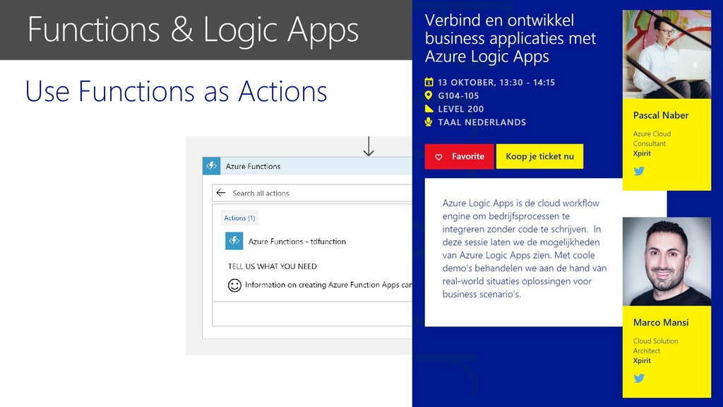 Use Functions as Actions Functions & Logic Apps
