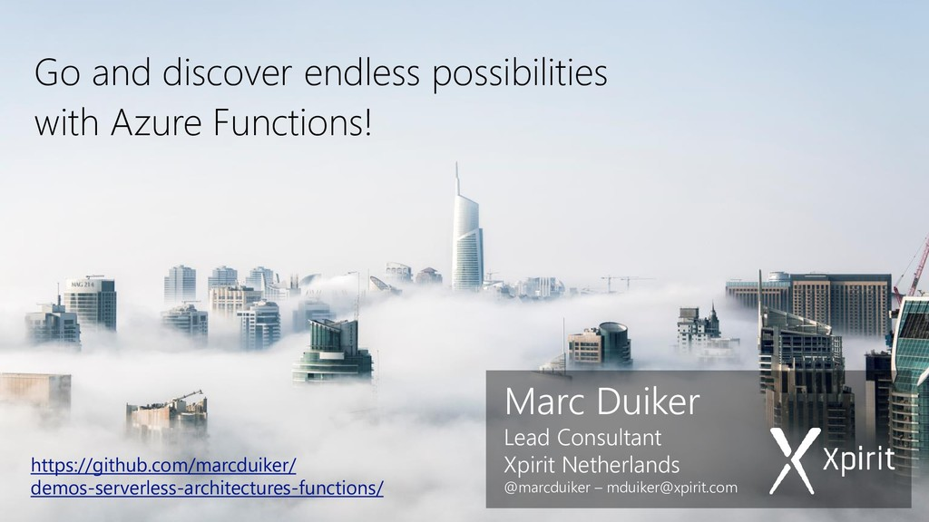 Marc Duiker Lead Consultant Xpirit Netherlands ...
