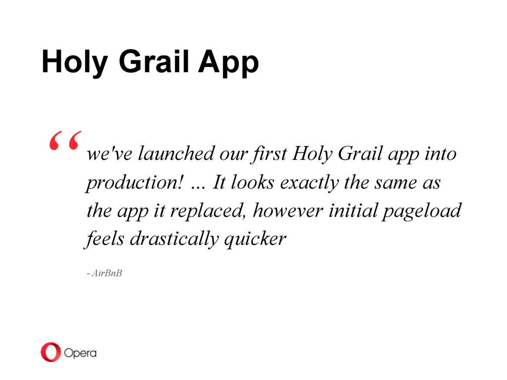 we've launched our first Holy Grail app into pr...