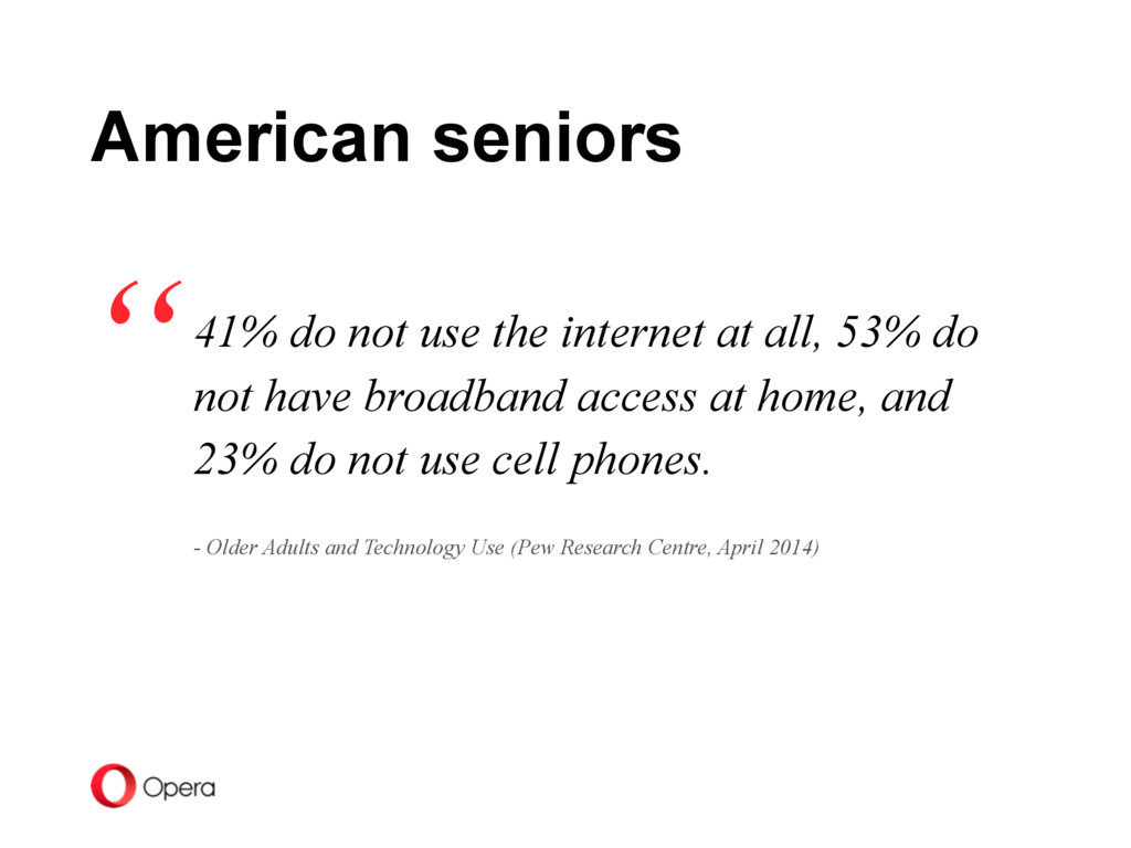 41% do not use the internet at all, 53% do not ...