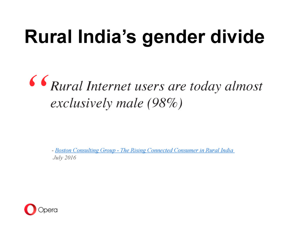 Rural Internet users are today almost exclusive...