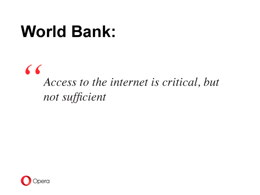 Access to the internet is critical, but not suf...