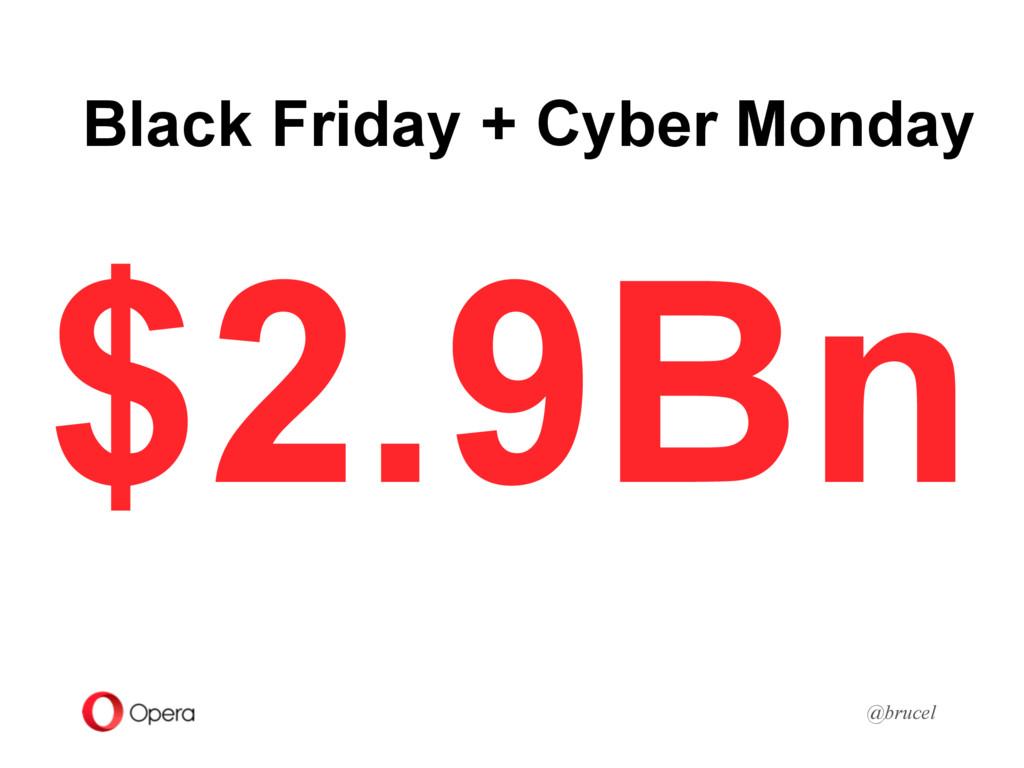 Black Friday + Cyber Monday @brucel $2.9Bn
