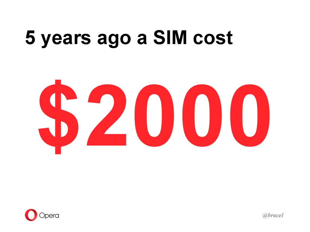 5 years ago a SIM cost @brucel $2000