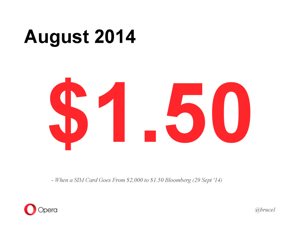 August 2014 @brucel $1.50 - When a SIM Card Goe...