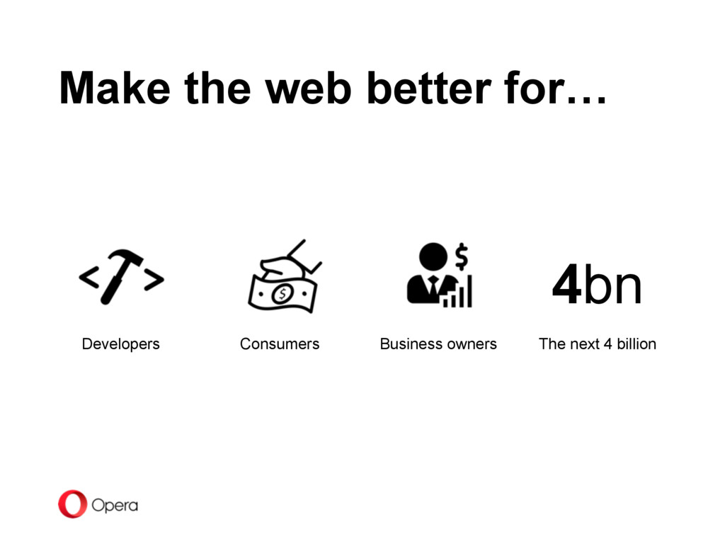 Make the web better for… Consumers Business own...