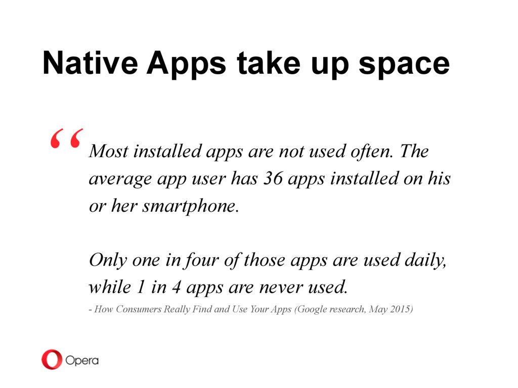 Most installed apps are not used often. The ave...