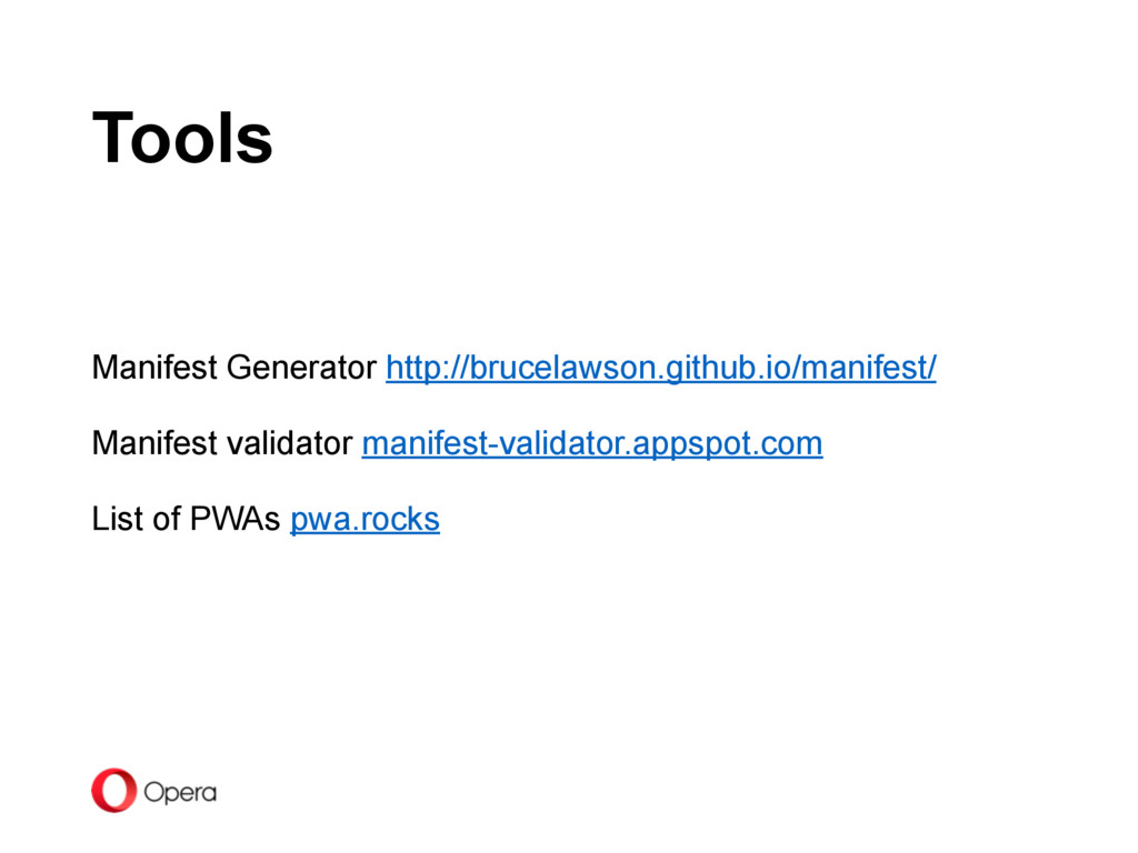 Tools Manifest Generator http://brucelawson.git...