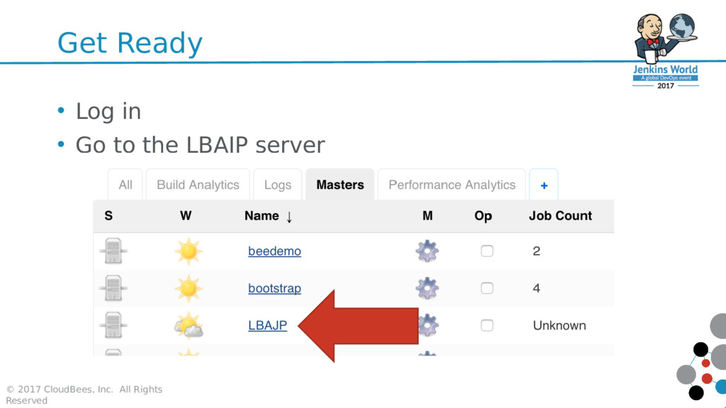 Get Ready • Log in • Go to the LBAJP server © 2...