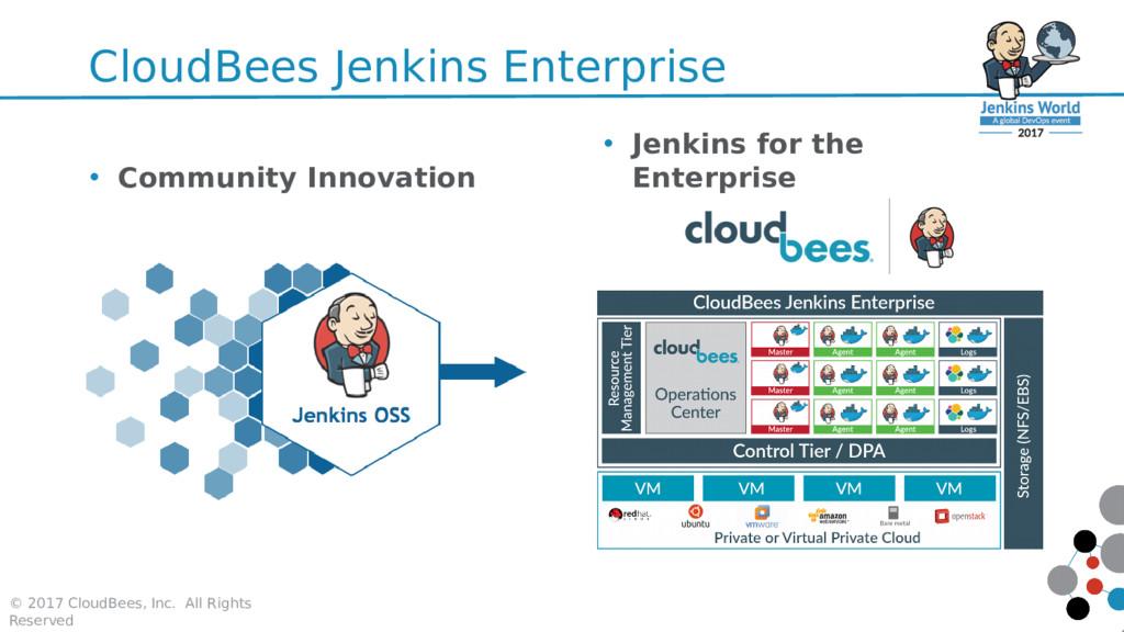 CloudBees Jenkins Enterprise © 2017 CloudBees, ...