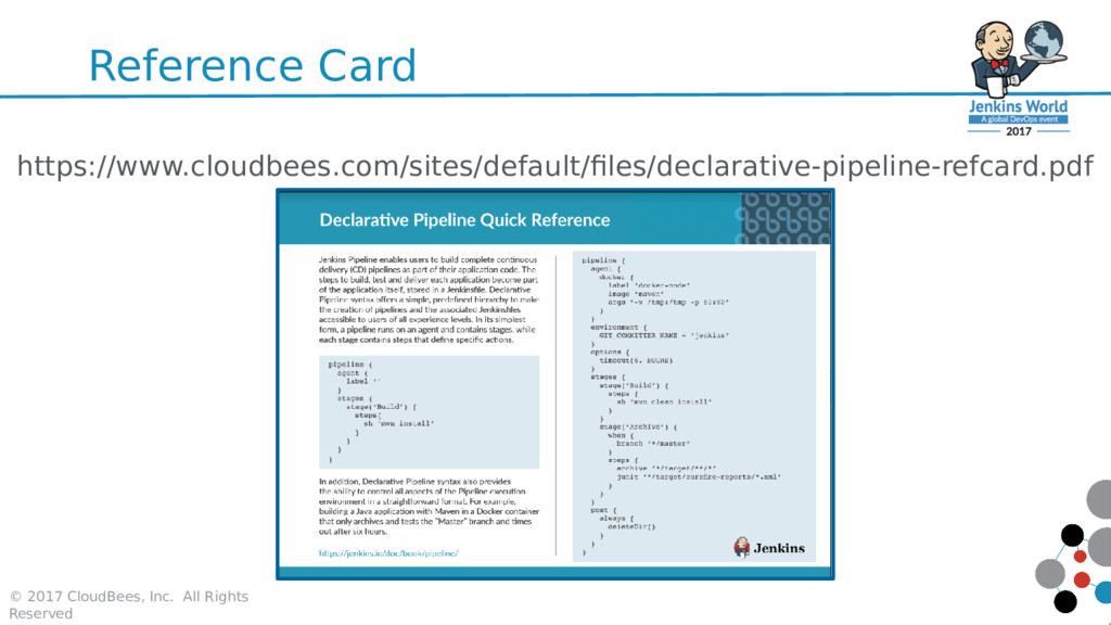 Reference Card https://www.cloudbees.com/sites/...