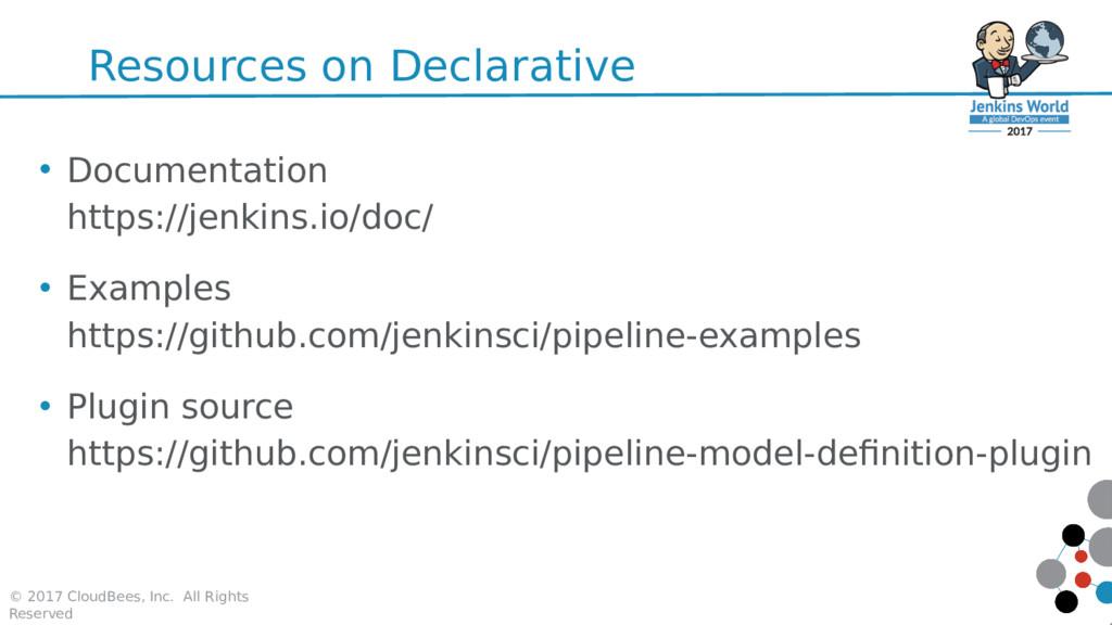 Resources on Declarative • Documentation https:...