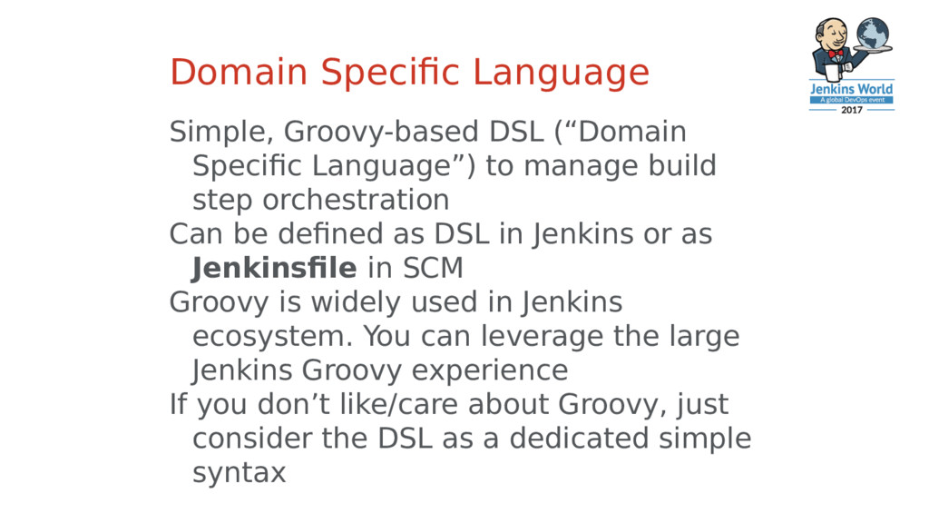 Domain Specific Language Simple, Groovy-based D...