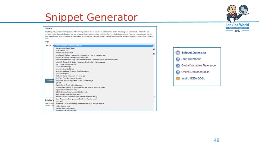 Snippet Generator 49