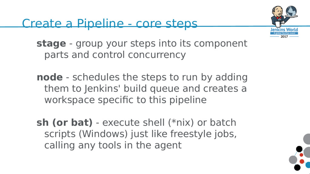 Create a Pipeline - core steps 50 stage - group...