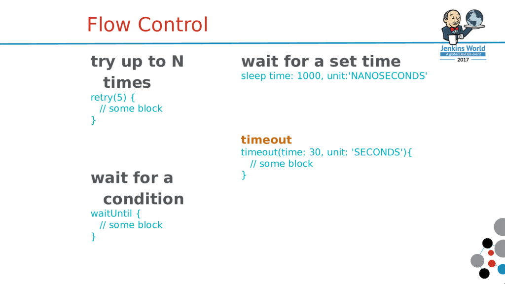 try up to N times retry(5) { // some block } wa...