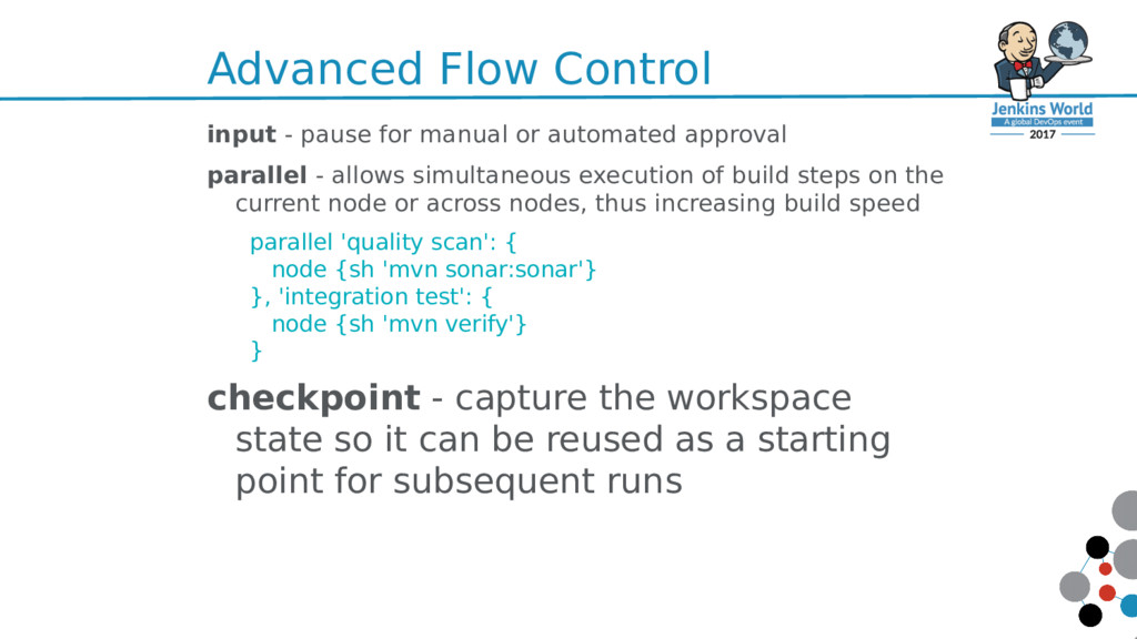 Advanced Flow Control input - pause for manual ...