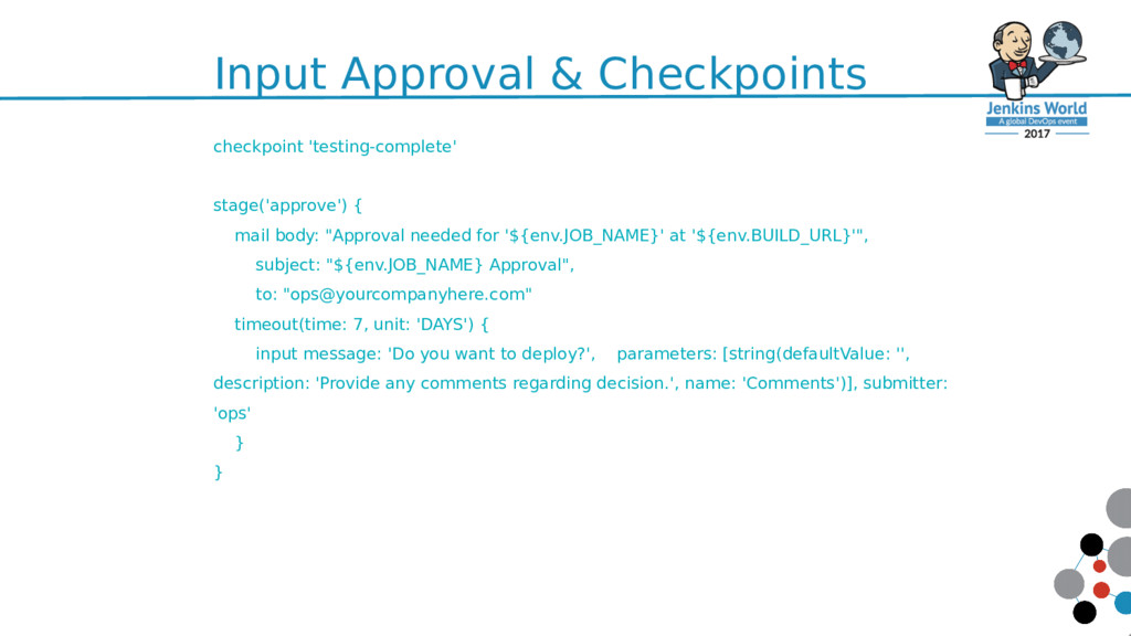 Input Approval & Checkpoints 60 checkpoint 'tes...