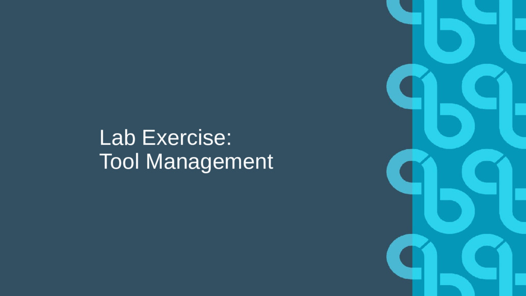 Lab Exercise: Tool Management