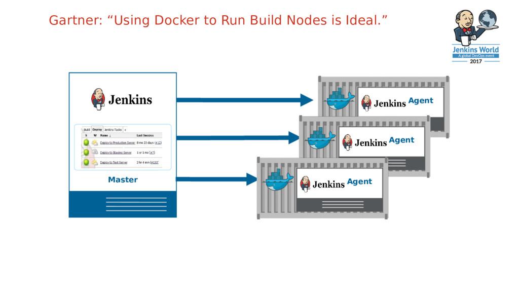 """Gartner: """"Using Docker to Run Build Nodes is Id..."""