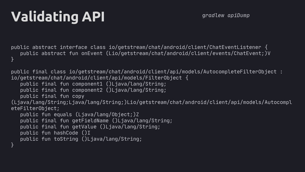 core Validating API public abstract interface c...