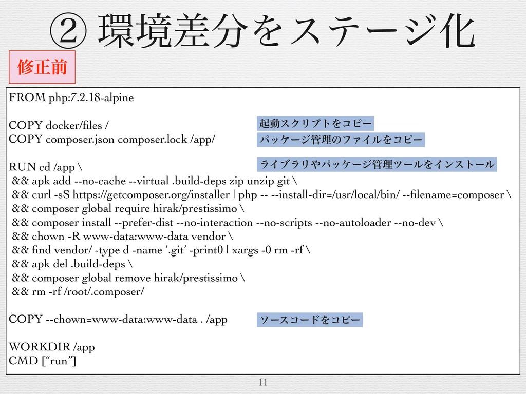 11 मਖ਼લ FROM php:7.2.18-alpine COPY docker/files ...