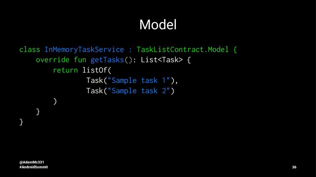 Model class InMemoryTaskService : TaskListContr...