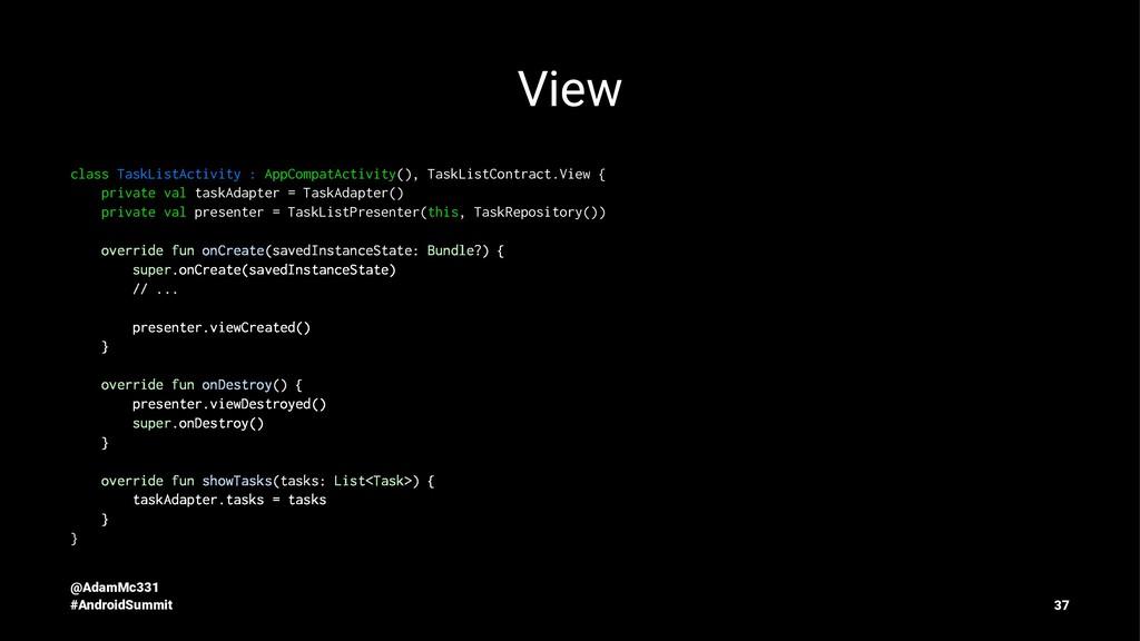 View class TaskListActivity : AppCompatActivity...