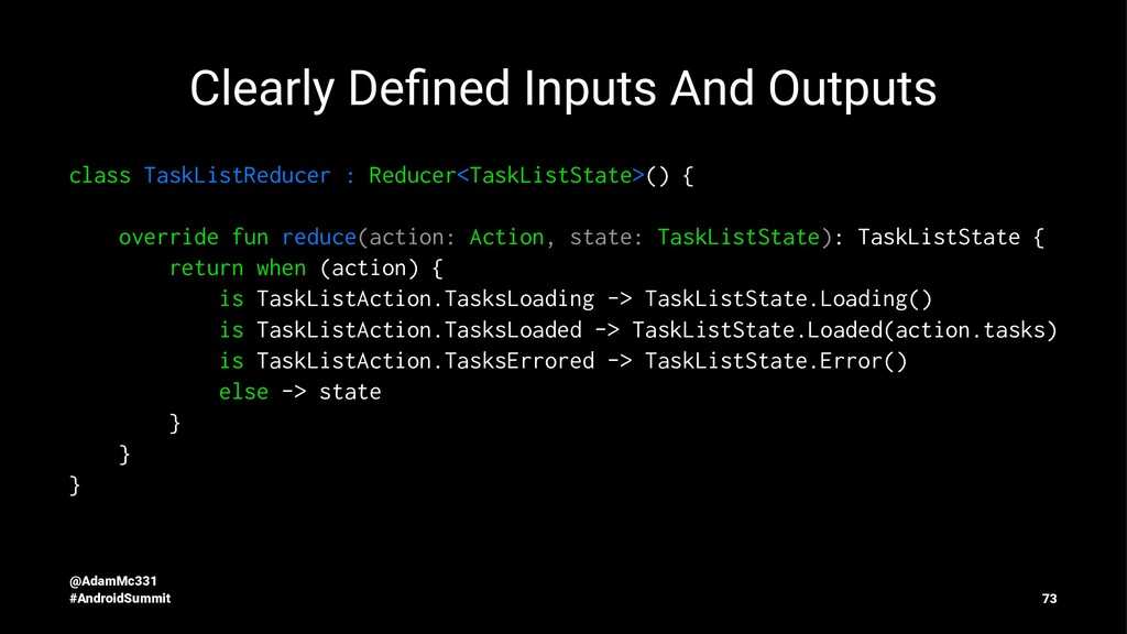 Clearly Defined Inputs And Outputs class TaskLis...