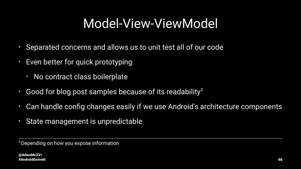 Model-View-ViewModel • Separated concerns and a...