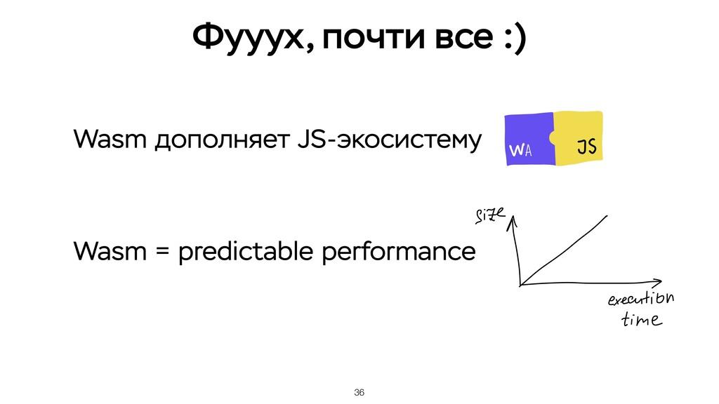 36 Wasm дополняет JS-экосистему Wasm = predicta...