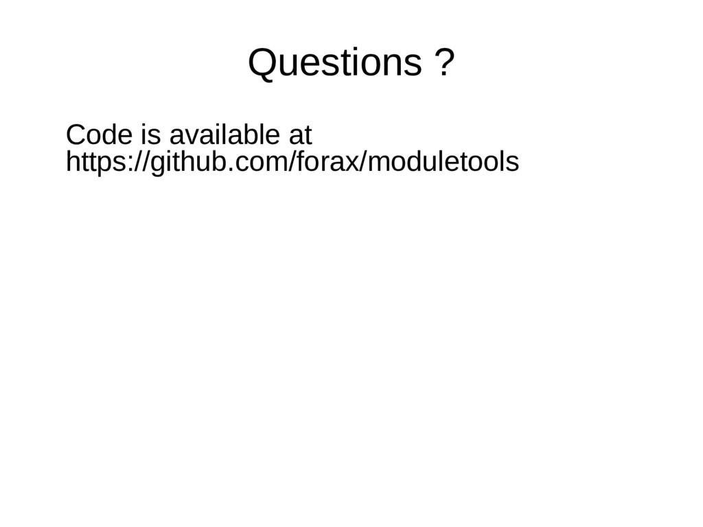 Questions ? Code is available at https://github...