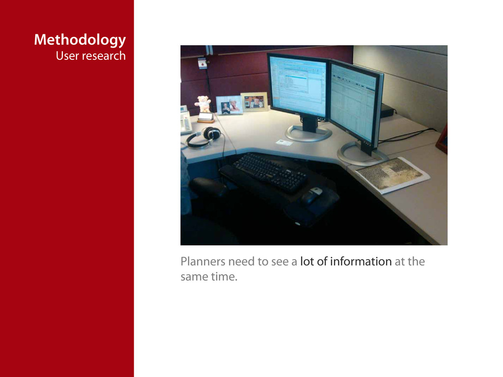 Methodology User research Planners need to see ...