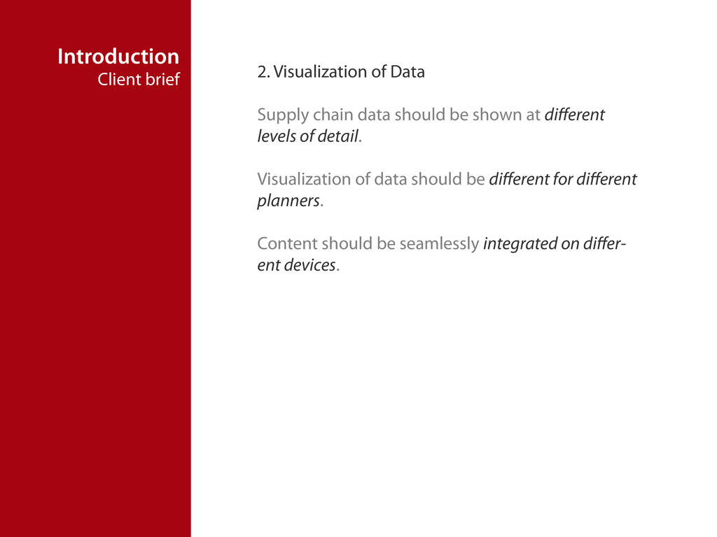 Introduction Client brief 2. Visualization of D...
