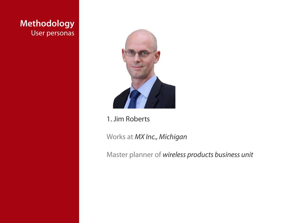 Methodology User personas 1. Jim Roberts Works ...
