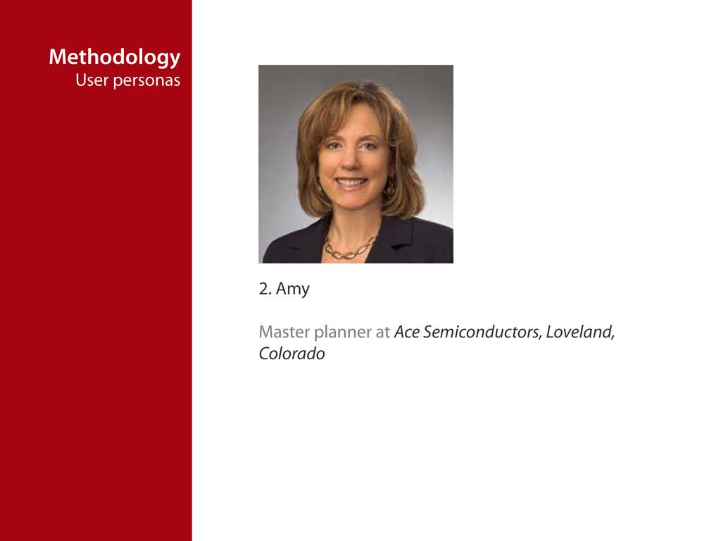 Methodology User personas 2. Amy Master planner...