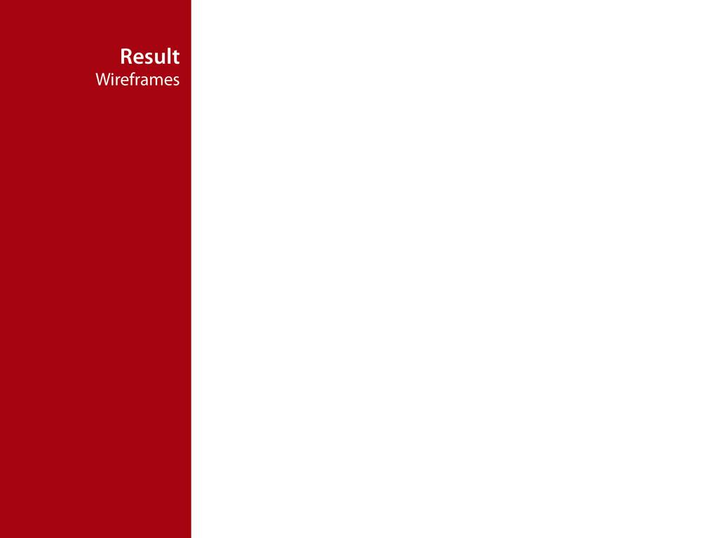 Result Wireframes