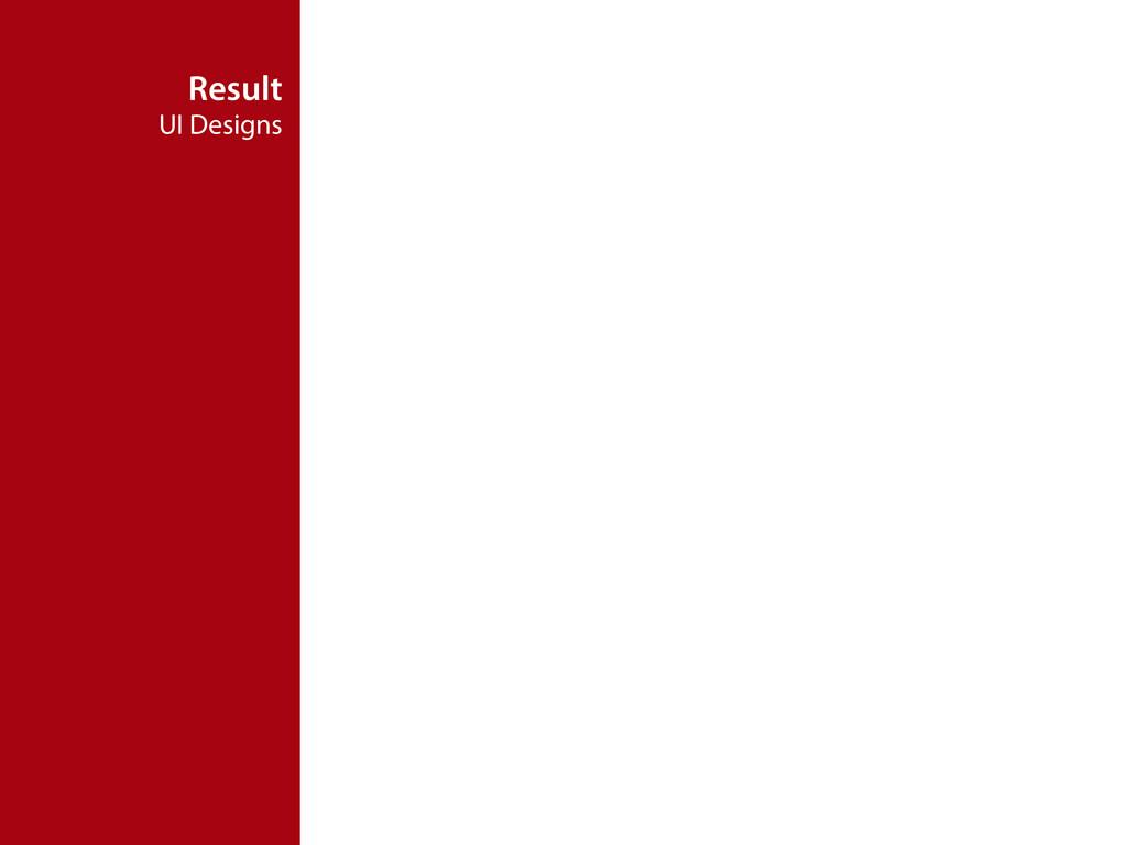 Result UI Designs