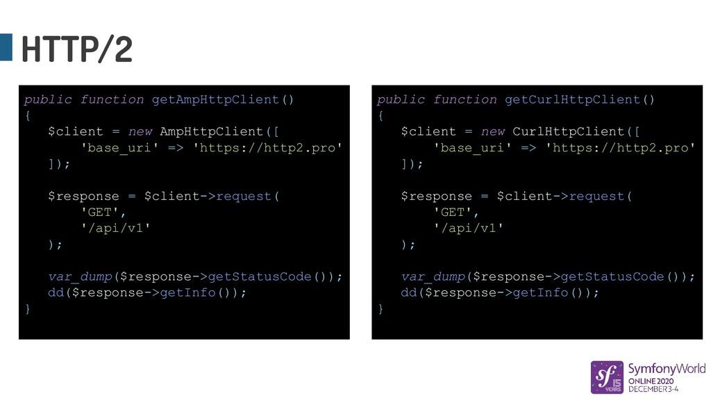 HTTP/2 public function getAmpHttpClient() { $cl...